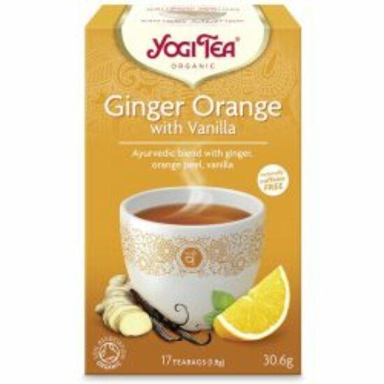 Narancsos gyömbér vaníliával bio tea
