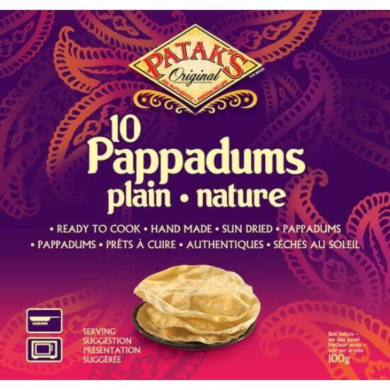 Patak's Pappadums Indiai kenyér