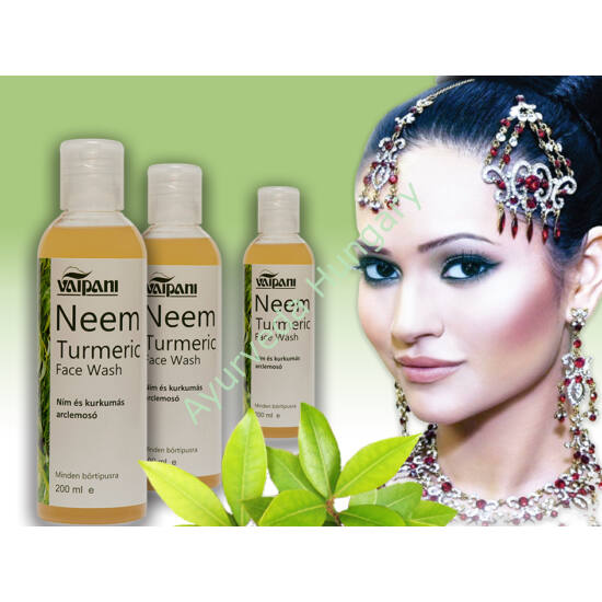 3 db. Vaipani Neem -Turmeric Face Wash - ayurveda gyógynövényes antibakteriális arctisztító