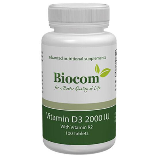 Vitamin D3 2000 IU IU (D3-vitamin K2-vitaminnal) 100 tabletta