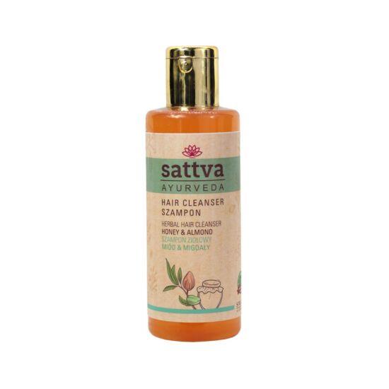 Gyógynövényes sampon, mézzel és mandula olajjal - selymes hajért