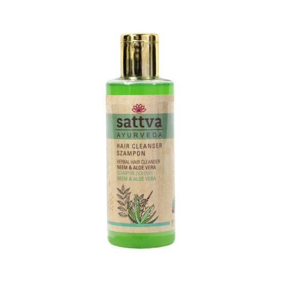 Sampon neem és aloe vera tartalommal,  zsíros hajra