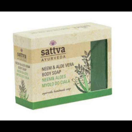 Ayurvedikus szappan -  neem és aloe kivonattal