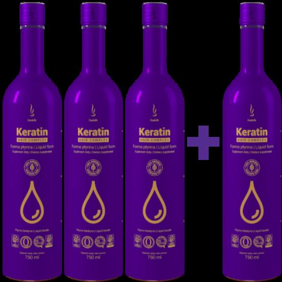 Keratin Hair Complex étrend-kiegészítő ital - a csodás hajért 3+1