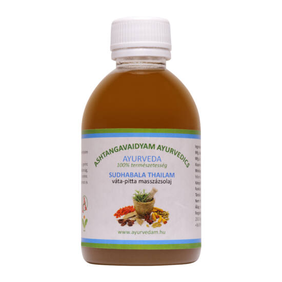 Suddhabala Thailam - vata/pitta Ayurveda masszázsolaj 1 liter
